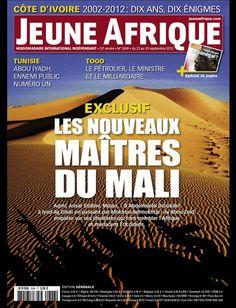 La couverture de Jeune Afrique le 23 Septembre 2012