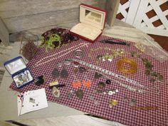 Vintage Nice mixed lot Broken Mixed Matched Jewelry Findings Junk Drawer Jewelry making Assortment Lot Jewelry Box Rhinestone by EvenTheKitchenSinkOH on Etsy