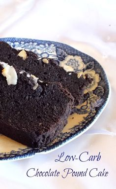 CORRECTED LINK! Low-carb chocolate pound cake slices - moist and deep chocolate flavor. lowcarb-ology.com