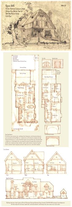 House 304 Portrait and Plans by Built4ever.deviantart.com on @DeviantArt