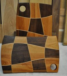 Uniquely patterned cutting boards allow this maker to create beautiful pieces from wood leftover from furniture construction.