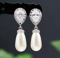 Wedding Jewelry Wedding Earrings Bridal Earrings by mysweetjewelry