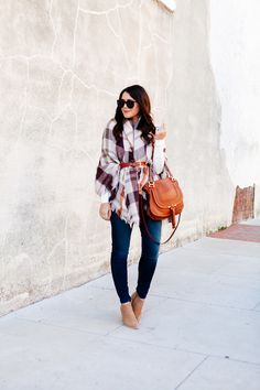 Plaid Wrap belted on Kendi Everyday I Fall To Pieces, Autumn Winter Fashion, Winter Style, Fall Fashion, Fashion Hats, Fashion Edgy, Fashion Watches, Fashion Dresses, Classy Casual
