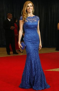 Stunning couture royal blue lace gown as seen on Connie Britton now on sale for only $135 + free worldwide express shipping! http://www.misscircle.com/Sale/CK109MC70.html