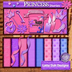Princess Diaries  Digital Scrapbooking Kit by Latte Dah Designs