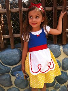 SNOW WHITE dress princess APRON dress toddlers baby and girls princess costume on Etsy, $38.99