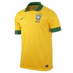 Nike Brazil Brasil CBF 2013 Home Jersey Official Yellow/Green Neymar Make Money Online Now, Soccer Equipment, Play Soccer, Football Shirts, Soccer Jerseys, Neymar, Sweater Shirt, Polo Ralph Lauren, Nike