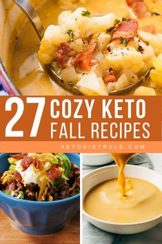 27 low-carb cozy keto fall recipes that'll you want to make again and again. They're so delicious. 27 low-carb cozy keto fall recipes that'll you want to make again and again. They're so delicious. Keto Crockpot Recipes, Low Carb Recipes, Diet Recipes, Healthy Recipes, Lunch Recipes, Delicious Recipes, Pizza Recipes, Keto Foods, Keto Meal