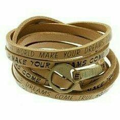 "Boho chic leather wrap.bracelet NWT Genuine leather wrap bracelet. Fits wrist size 6 to 9"". Brand new with tag. Jill Marie Boutique Jewelry Bracelets"