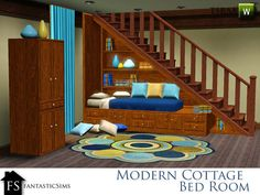 I finally found the bed nook! It is part of fantasticSim's Modern Cottage Set for the Sims 3 over at TSR.