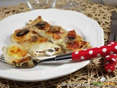 Cannelloni di crepes agli albumi ai funghi  #ricette #food #recipes