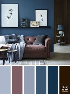 Brown and Blue Living Room Pictures. 20 Brown and Blue Living Room Pictures. Brown and Blue Living Room Color Ideas Living Room Colour Design, Small Living Room Layout, Living Room Color Schemes, Living Room Colors, Living Room Designs, Grey Living Room Ideas Colour Palettes, Color Palettes, Bedroom Colour Schemes Blue, Interior Design Color Schemes