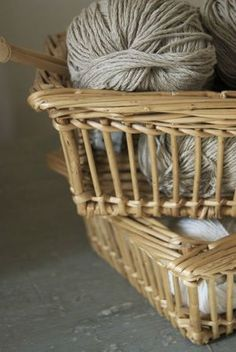 My French Country Home, French Living - Sharon Santoni Porch Furniture, Find Furniture, Rattan Basket, Wicker, Baskets, My French Country Home, Basket Decoration, Weaving Art, Weekend Projects
