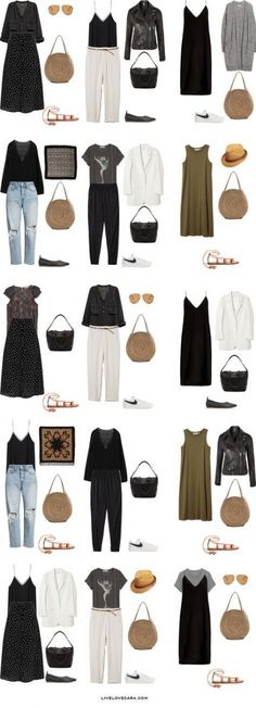 Packing Light: 45 10 days in Spain Portugal and Denmark in Juny/ July. What to wear: Outfit Options Summer Travel Capsule Wardrobe 2018 The post Packing Light: 45 10 days in Spain Portugal and Denmark in Juny/ July. What to appeared first on Fashion. Mode Outfits, Casual Outfits, Fashion Outfits, Womens Fashion, Fashion Trends, Dress Fashion, Fashion Ideas, Capsule Wardrobe 2018, Capsule Wardrobe Neutral