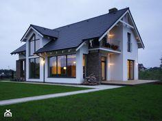 Z CHARAKTEREM 3 - realizacja projektu - Średnie jednopiętrowe nowoczesne domy jednorodzinne murowane z dwuspadowym dachem, styl nowoczesny - zdjęcie od DOMY Z WIZJĄ - nowoczesne projekty domów