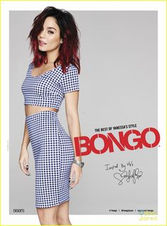 Vanessa Hudgens brings gingham back in style in one of her new ads for Bongo's Spring 2015 campaign!