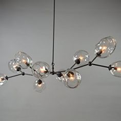 handmade 10 Globe Staccato Branch Chandelier Handmade in USA! Branch Chandelier, Chandeliers, Bow Light, Design Movements, Colorado Homes, Dining Room Lighting, Bronze Finish, Pendant Lighting, Light Fixtures