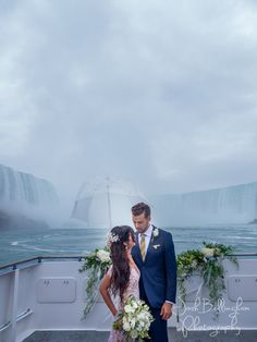 Super Photo Of Bride And Groom Right Under Niagara Falls Aboard The Guardian Horner Cruises Wedding Boat Gorgeous With Lace