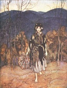 Arthur Rackman   Google Image Result for http://www.surlalunefairytales.com/illustrations/donkeyskin/images/rack_catskin1.jpg