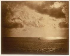 Brig in the water by Gustave Le Gray, circa 1850s.