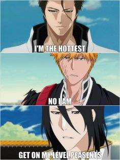 "Yah you heard the man, ""Get on my level peasants."" Hahah :D Byakuya DEFIANTLY wins!"