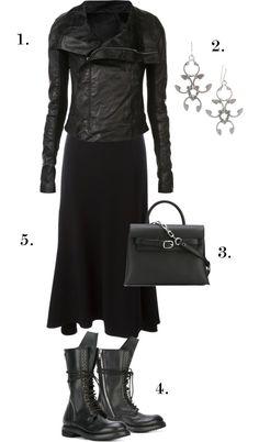 b1487cfac0e Dark Industrial Boho Style  All Black Everyday