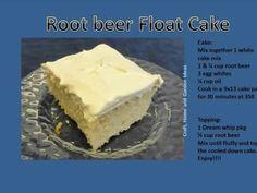 Rootbeer Float Cake