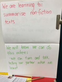 Idea for displaying learning intentions and success criteria in a prep classroom. By Genevieve Vidmajer