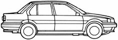 Nissan Sunny 4-Door (1988) Nissan Sunny, Sunnies, E Online, Drawings, Sunglasses, Shades