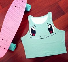 Hot-Sexy-Women-Girl-Vest-RARELY-Pokemon-Squirtle-Pikachu-Bare-Midriff-Tank-Tops