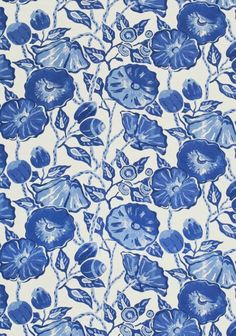 Nassau printed #fabric in Blue & White from the Resort Collection by #Thibaut