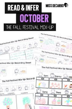 Students will love The Fall Festival Mix-Up! They'll infer, draw conclusions, make predictions, write about their reading and reasoning, and think critically while they solve fun mysteries. #inferences #literacy #reading #criticalthinking #differentiation #missdecarbo
