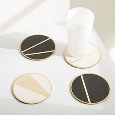 for coffee table - The Vintage Vogue Linea Coasters (Set of 4) #westelm