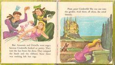 Fairy Tale Origins — Walt Disney's Cinderella, a children's book from. Cinderella Story Book, Walt Disney Cinderella, Anastasia And Drizella, Children's Book Illustration, Book Illustrations, Diy Birthday Decorations, Little Golden Books, Fairy Godmother, Vintage Children's Books