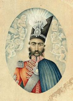 A Portrait of Nasir Al-Din Shah, Iran, c. 1850.