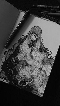 Drawing Ink coretan on Behance More - Art And Illustration, Illustrations, Doodle Drawing, Smoke Drawing, Drawing Hair, Anime Body, Anime Pokemon, Art Et Design, Wie Zeichnet Man Manga