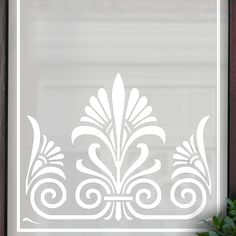 Edna Victorian Etch Glass Pattern by Purlfrost for all 3 windows Bathroom Window Treatments, Bathroom Windows, Glass Etching, Etched Glass, Window Film, Door Design, Glass Door, Frost, Victorian
