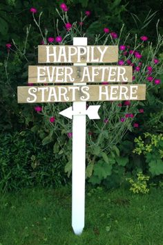 Dress up your outdoor space with this rustic wooden wedding sign from bespokeblueflower via Etsy. #weddingsign #rustic #woodensigns #outdoorsigns