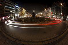 Prague night (fisheye) Light Trails, Long Exposure, Night Photography, Photo Tips, Prague, Photography Tips