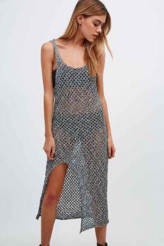 Somedays Lovin Knit Split Maxi Dress in Mono - Urban Outfitters