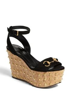 06bea9af489f Gucci  Liliane  Studded Platform Sandal in Nero available at  Nordstrom  Gucci Spring