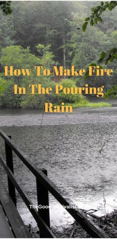 Learn how a good fire going in the pouring rain.  http://www.thegoodsurvivalist.com/how-to-make-fire-in-pouring-rain-very-useful-and-underestimated-bushcraft-skill/