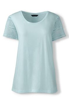 Women's+Lace+Sleeve+Top+from+Lands'+End