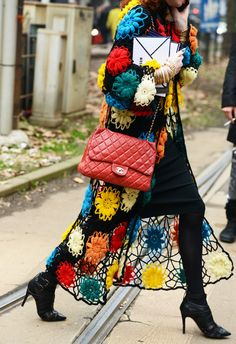 Crochet and Chanel. Milan.