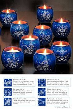Partylite astrological candles are a good thing, unless u need 2 & then they're not so good at $20/ea