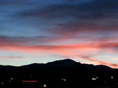 Sunsets behind Pikes Peak ♡