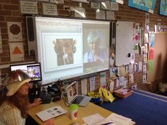 Talking Not Perfect Hats with Ms. Jenaia in Brian Host's class in Sydney Australia