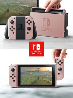 The Nintendo Switch shown in the console's debut trailer is grey. This being Nintendo, though, you can be sure that other shades and variations will be coming. Nintendo Switch Games, Nintendo Games, Nintendo Consoles, Nintendo Lite, Kirby Nintendo, Ps4 Games, Super Nintendo, News Games, Pokemon Zelda
