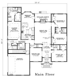 House Plan 61231 at FamilyHomePlans.com