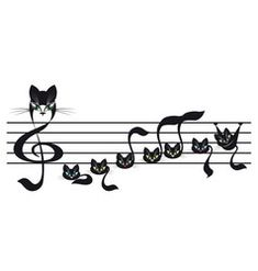 Cat Tattoo Vector Images (over Music Drawings, Doodle Drawings, Pretty Cats, Cute Cats, Witch Tattoo, Cat Tattoo Designs, Cat Wall, Silhouette Art, Cat Drawing